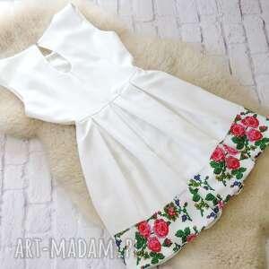 białe sukienki sukienka biała kontrafałdy góralska