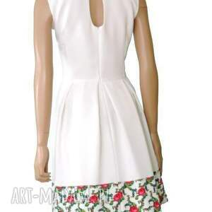 niepowtarzalne sukienki sukienka biała z kontrafałdami