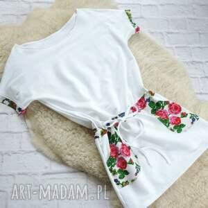 ręcznie wykonane sukienki sukienka biała dresowa oversize