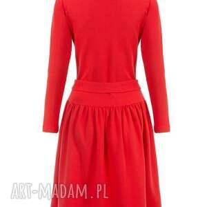 handmade sukienki bawełniana bien fashion czerwona sukienka