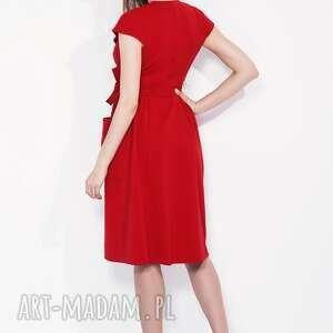 trendy sukienki kieszenie bien fashion czerwona sukienka