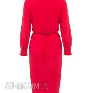 midi sukienki bien fashion czerwona sukienka