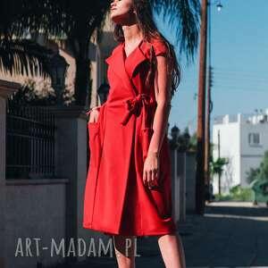 trendy sukienki midi bien fashion czerwona sukienka