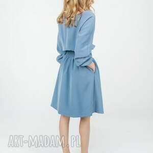 sukienki rozkloszowana bien fashion niebieska
