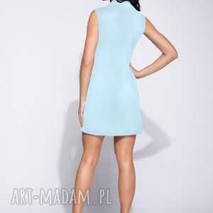 atrakcyjne sukienki wizytowa błękitna sukienka dwurzędowa