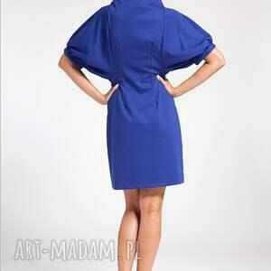 ręczne wykonanie sukienki moda blue classic 44