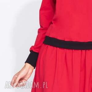 sukienki bawełniana bluzosukienka z długim rękawem do
