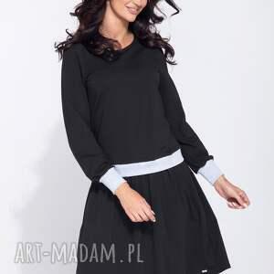 gustowne sukienki midi bluzosukienka z długim rękawem do