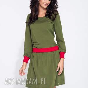 bawełniana sukienki bluzosukienka z długim rękawem do