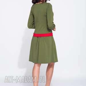 gustowne sukienki bawełniana bluzosukienka z długim rękawem do