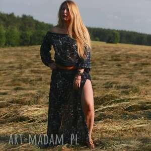 eleganckie sukienki folk zestaw boho komplet