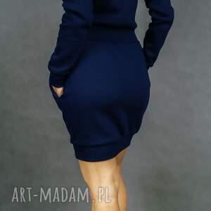 długi-rękaw sukienki bombress navy blue