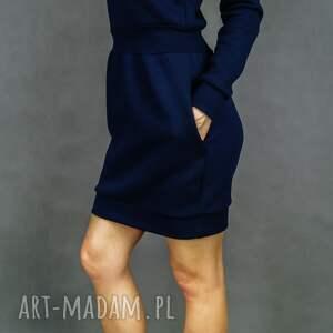 sukienki długi-rękaw bombress navy blue