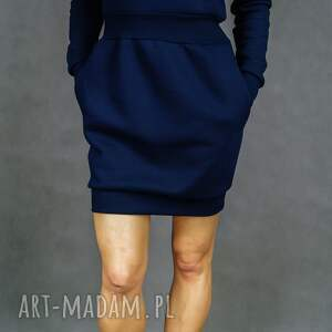 unikatowe sukienki dresowa bombress navy blue