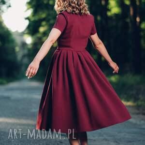 różowe sukienki midi bordowa sukienka