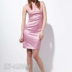 różowe sukienki moda carlie sukienka 40 różowa