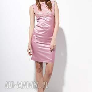 niepowtarzalne sukienki moda carlie sukienka 40 różowa