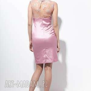 wiosna sukienki carlie sukienka 40 różowa