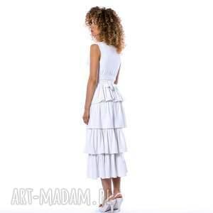 sukienki falbany carmelita - suknia ślubna