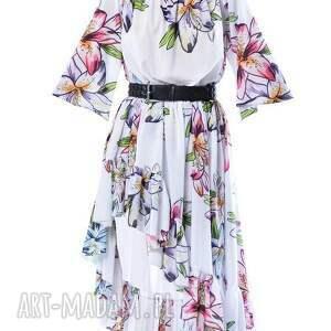 kolorowe sukienki szyfon carmen hypnotic lily - szyfonowa
