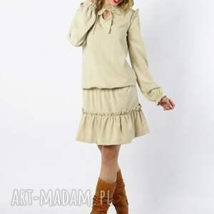 sukienki sukienka chloe - kremowa