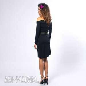 wyjątkowe sukienki elastyczna cindy - asymetryczna sukienka