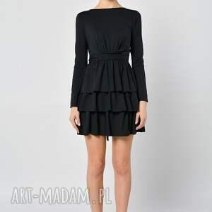 sukienki jersey cristina botanika - czarna sukienka