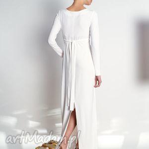 niekonwencjonalne sukienki cristina maxi - vanilla - długa