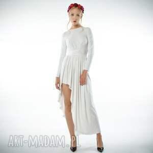 eleganckie sukienki cristina patria maxi white