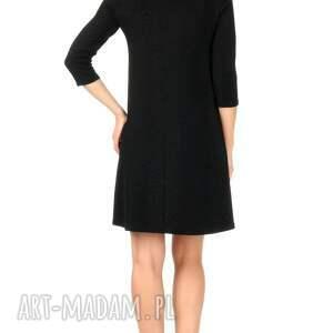 sukienki sukienka czarna brokatowa z rękawem