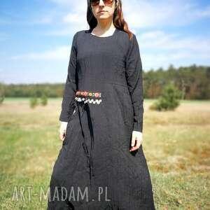 etno sukienki czarna etniczna sukienka