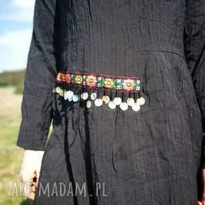 sukienki etno czarna etniczna sukienka