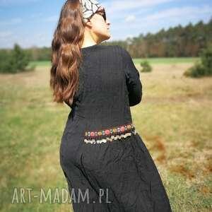 awangardowe sukienki sukienka czarna etniczna