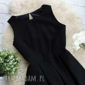 czarne sukienki sukienka czarna folkowa