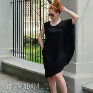 czarne sukienki sukienka czarna letnia z bawełny