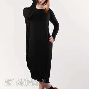 trendy sukienki czarna nowoczesna sukienka wizytowa