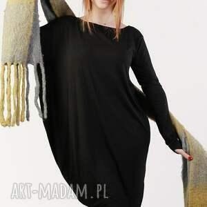 trendy sukienki asymetryczna czarna nowoczesna sukienka wizytowa