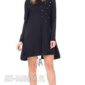 sukienki sukienka czarna z perełkami