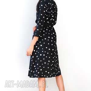 sukienki sukienka czarna w groszki