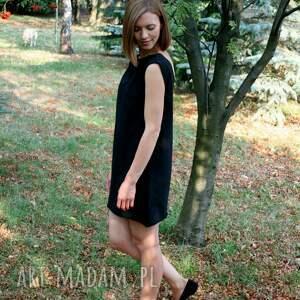 sukienki czarna sukienka dzianina z wyciętym