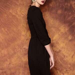 sukienki sukienka czarna z bufkami