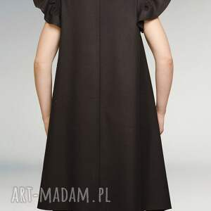 czarna sukienki sukienka z falbankami