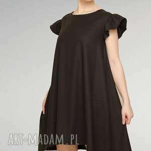 sukienki czarna sukienka z falbankami