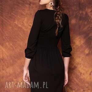 sukienki czarna sukienka z bufkami