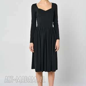 sukienki jersey czarny bez - sukienka
