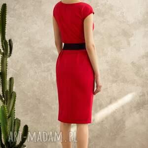 27ce21f00f trendy sukienki sukienka czerwona mono voyage. sukienki mono ponadczasowa  sukienka uszyta z grubszej