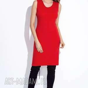 hand-made sukienki casual czerwona sukienka z bluzką do