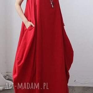 sukienki kobieca czerwona sukienka oversize