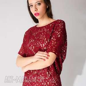 czerwone sukienki koronka czerwona sukienka z koronki