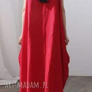 kolorowe sukienki sukienka czerwona oversize